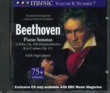 BEETHOVEN: PIANO SONATAS, OP 106: HAMMERKLAVIER & 111 - EDITH VOGEL - BBC CD