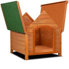 Cuccia cane legno taglia media con tetto apribile