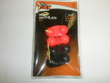 Fox Rage Catfish Rig Rattles Red / Black 4pk fishing tackle