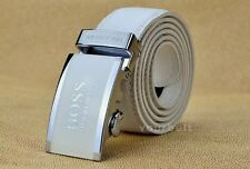 HUGO BOSS LEATHER  BELT AUTOMATIC  BUCKLE