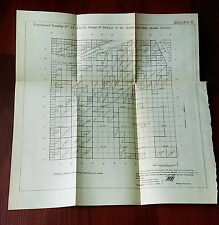 1899 Fractional Townships 15 Muskogee Territory Platte Survey Map