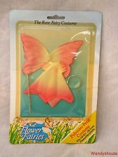 VINTAGE CARDED ROSE FLOWER FAIRY/FAIRIES DOLL OUTFIT FREE UK P & P