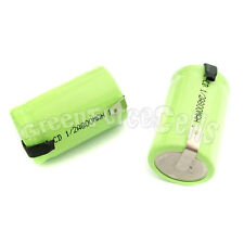 50 pcs Ni-Cd 1/2 A 1/2A 800mAh 1.2V rechargeable battery Cell with tab Green