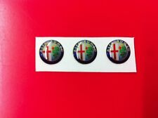 3 Adesivi Resinati Sticker 3D ALFA ROMEO 17 mm new