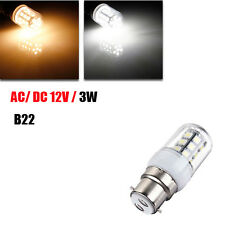 B22 LED Bulbs 12V 3W 27 SMD 5050 White/Warm White Corn Light