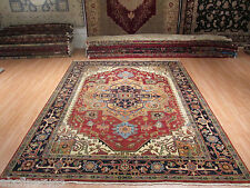 9x12 Persian MUSEUM Heriz Serapi Vegetable Dye Hand-made-knotted Wool Rug 580727