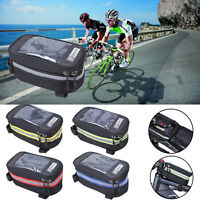 Hot Waterproof Cycling Bike Bicycle Front Frame Pannier Tube Bag For Cell Phone