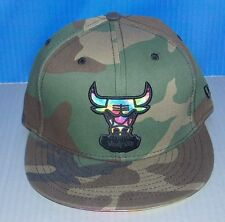 NWT New Era 59Fifty CHICAGO BULLS Camo Fitted Mens Hat Cap Size 7 1/4