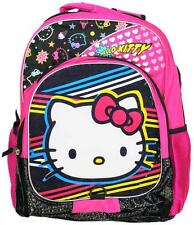 Retro 80s Style Hello Kitty Kids Backpack Full Size Childs Boys Grils Back Pack