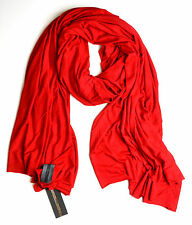 $39.99 SALE FLUXUS NOMAD SCARF CRIMSON RED SCARF WRAP SHAWL COTTON MADE IN USA
