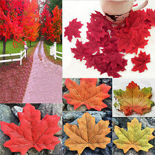 500 pcs 5 colors Larger  Fall Silk Leaves Wedding Favor Maple Leaf Decorations