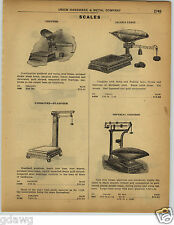 1922 PAPER AD Jocob's Union Scale Imperial Grocers' Fairbanks Platform Warehouse