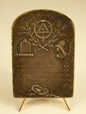 Médaille loi de Séparation des Églises et de l'Etat sc Rozet Révolution Medal
