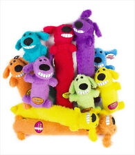 "Multipet Loofa dog toy 6"" Assorted Colors FREE SHIPPING"