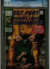 SGT. FURY AND HIS HOWLING COMMANDOS #62 CGC 9.2 1969 OWTW PAGES DICK AYERS BLUE