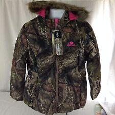 Ladies Mossy Oak Break Up Camo Fur Hooded Jacket Sz XL Free Shipping