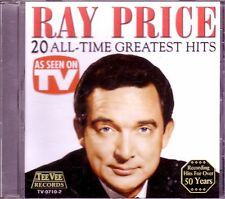 RAY PRICE 20 All Time Greatest CD TEE VEE As Seen On TV Rare FOR GOOD TIMES