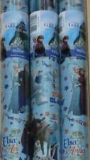 Disney frozen 3 rolls of gift wrapping. paper 2m long each Roll.  Giftwrap Roll