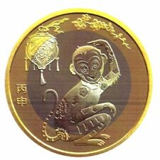 2016China New Issue UNC Year of Monkey Bi-Metal Zodiac Commemorative Coin 10Yuan