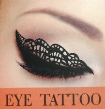 New Eye Tattoo Eyeliner Eye Shadow Face Sticker Transfer Designs Black Lace