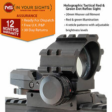 Holographique red & green dot reflex sight/weaver rail tactical rifle scope