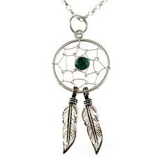 "Sterling Silver Dreamcatcher Pendant Necklace with 18"" Chain & Gift Box"