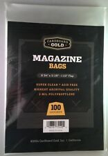 200 CBG Non-Resealable Magazine 2-mil Acid Free Bags 8 3/4 X 11 archival