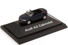 1:87 Audi A3 Cabrio 8P tiefseeblau blau blue - Dealer-Edition OEM herpa