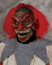 Dark Humor Evil Clown Latex Mask with Moving Mouth Adult Halloween Mask