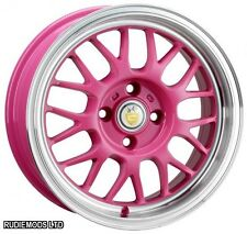 """Cades Eros Candy Pink 15"""" 6.5J Alloy Wheels 4x100 SHIPPING TO FINLAND"""