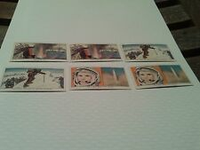 Kellog food cards Famous Firsts seris 6 cards Pristine Condition