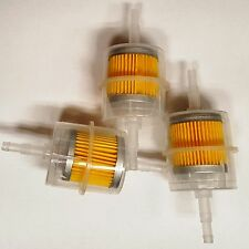 5/16 Inline fuel filter. Clear plastic (Lot of 3 Pcs )