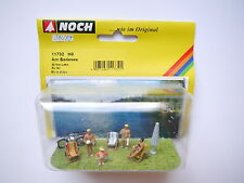 Am Badesee Strand Szene Holidaymaker At the lake, Noch #11732 in 1:87 H0 boxed!