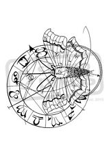 A7 'Cosmic Moth' Unmounted Rubber Stamp (SP004384)