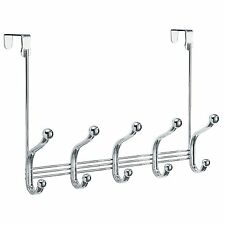 Over the Door Organizer 5 Hooks Hanger Clothing Hat Towels Bedroom Bathroom Rack