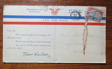 TROW SEBREE AIR MAIL PILOT SIGNED 1929 MAIL CARD - PITTSBURGH CLEVELAND AIRMAIL