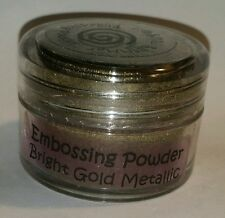 DETAIL Embossing Powder BRIGHT GOLD METALLIC by Cosmic Shimmer Stunning Sheen