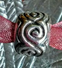 Authentic Pandora Oxi Swirls Charm bead 925/Ale Sterling Silver Retired #790228