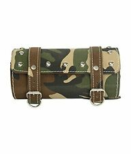 Stylish Square Saddle Bag Back Carrier/Tool Bag For Royal Enfield - Military