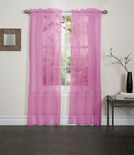 "NEW PINK SHEER VOILE WINDOW CURTAIN PANEL GREAT QUALITY SHEER CURTAIN - 55""X84"""