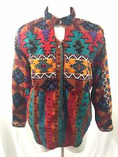 Arroyo Keyhole Southwestern Rodeo Cowgirl Long Sleeve Shirt 80's Vtg Womans Sz L