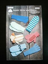 Patons Socks, Mitts and Gloves for Children Susan Bates VTG Knit Pattern #7140