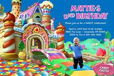 Candy Land Lane Candy Castle Birthday Party Invitation Photo