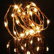 2M 20 LEDs Battery Operated Mini LED Copper Wire String Fairy Light Xmas Lamp