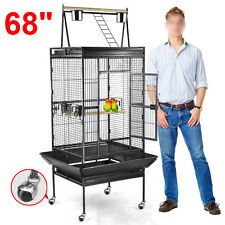 "68"" Bird Cages Large Play Top Parrot Finch Cage Cockatoo Pet Supplies"