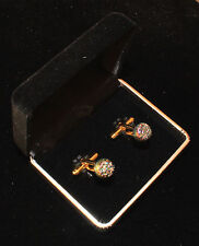 * Round Druzy Agate / Natural Stone Cuff Links Sophisticated & Elegant $195 Gift