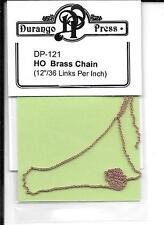 "Brass Chain Durango 121 - 12"", 36 Links Per Inch - All Scale Trains / Ship Model"