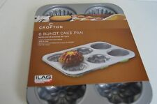 Crofton Bundt Cake Pan 6 small cakes 3 different molds non stick