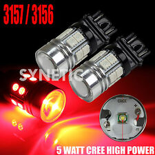 2x 3157/3156 High Power CREE Red Brake/Stop/Tail/Turn Signal LED Light Bulbs