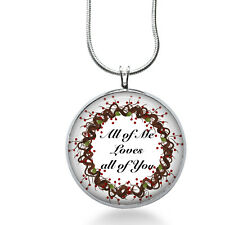 Love necklace - All of me Loves all of You - song jewelry - quote, love jewelry